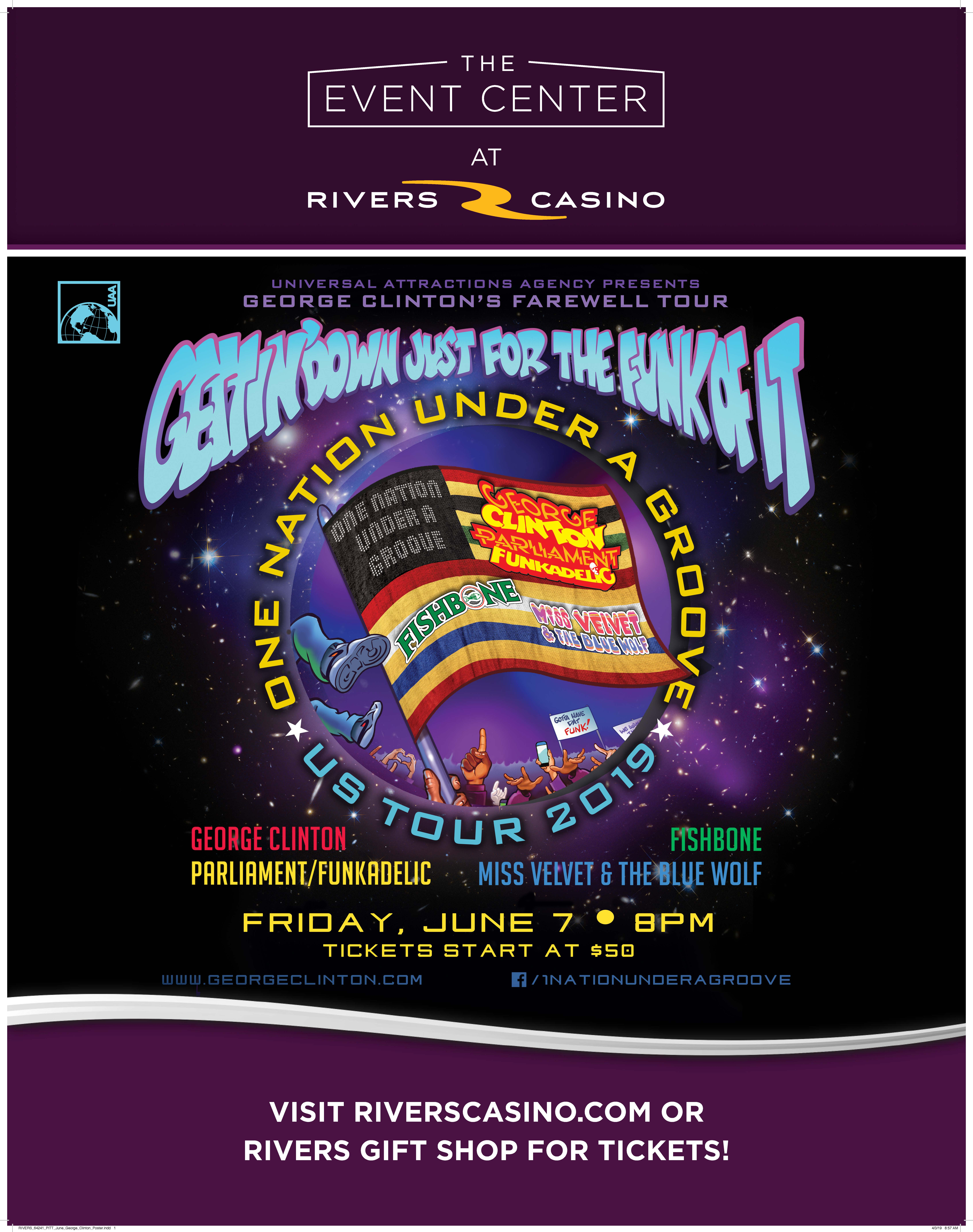 George Clinton Rivers Casino Event Poster